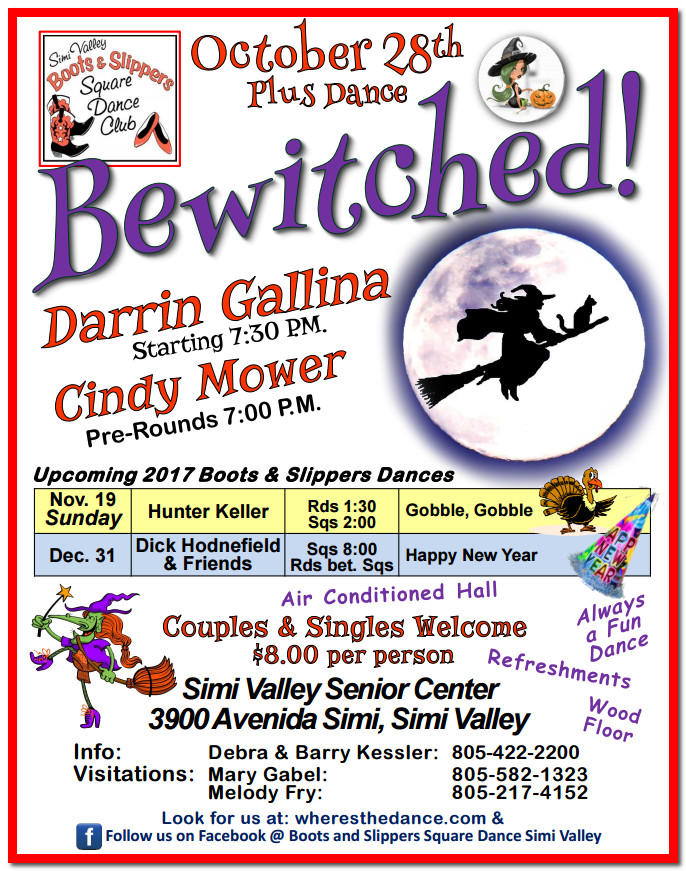 Bewitched Plus Dance with Boots and Slippers @ Simi Valley Senior Center