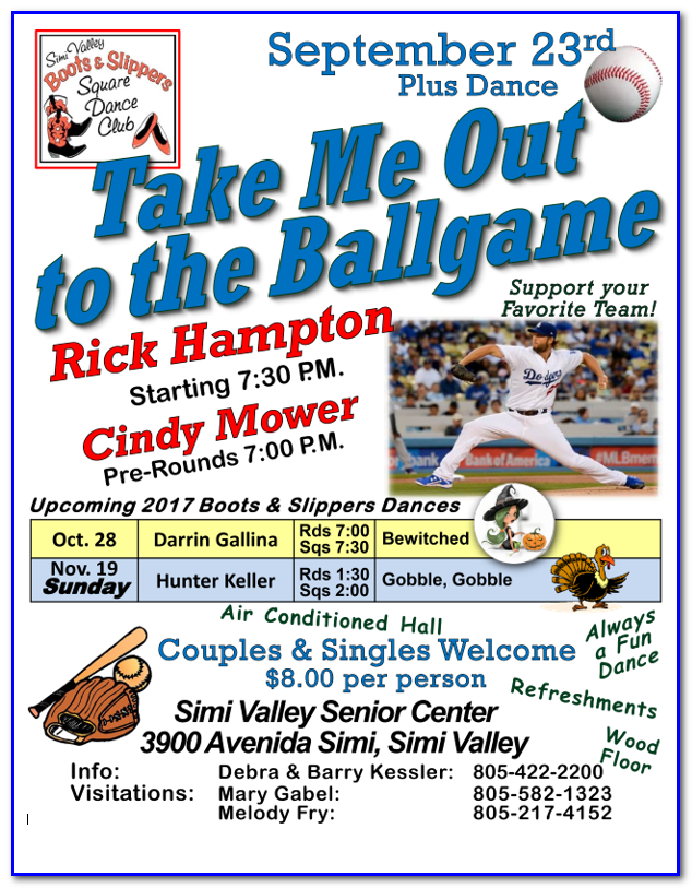 September Plus Dance Take Me Out to the Ball Game @ Simi Valley Senior Center