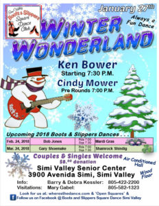 January Plus Dance Winter Wonderland @ Simi Valley Senior Center