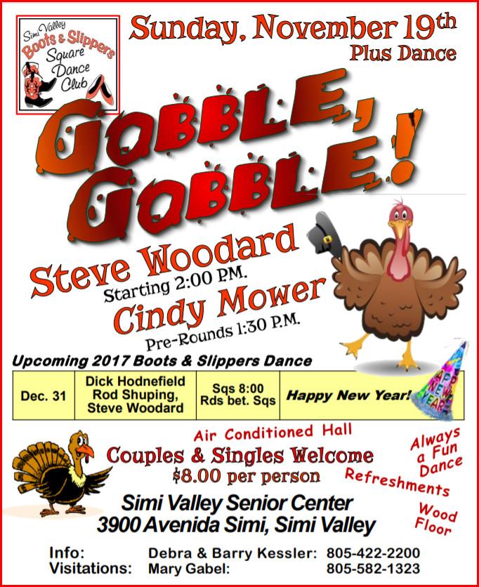 Gobble Gobble Thanksgiving Plus Square Dance @ Simi Valley Senior Center