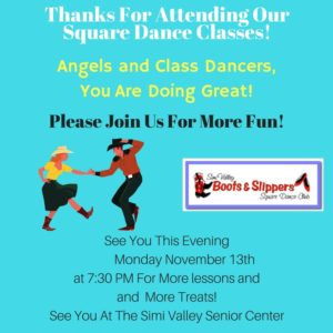 Monday Night Class Dances @ Simi Valley Senior Center